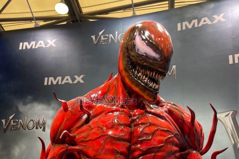 Estatua revela el diseño de Carnage para 'Venom: Let There Be Carnage'