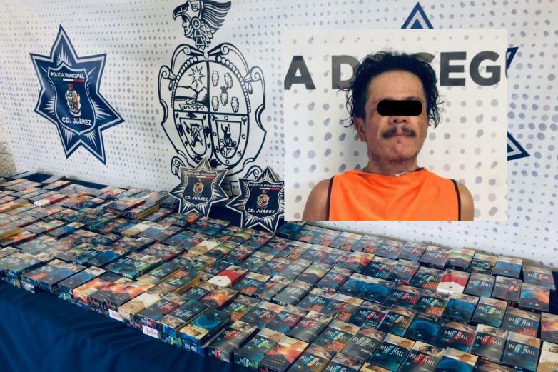 Se lleva 230 cajetillas de cigarros; las iba a vender en 60 pesos cada una