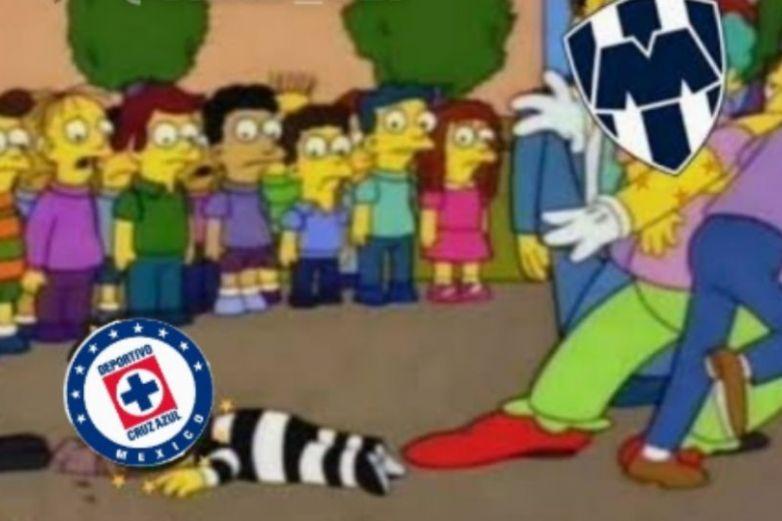 Memes 'noquean' a Cruz Azul tras goleada de Monterrey