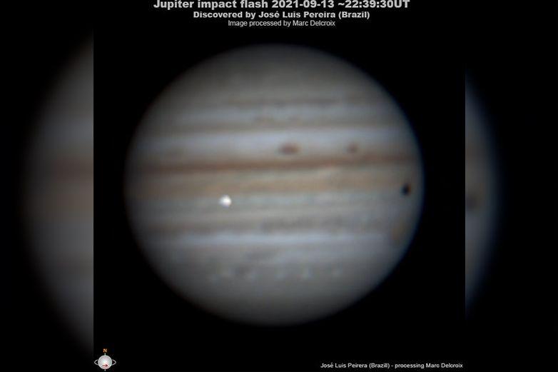 Video: gigantesco objeto chocando contra Júpiter