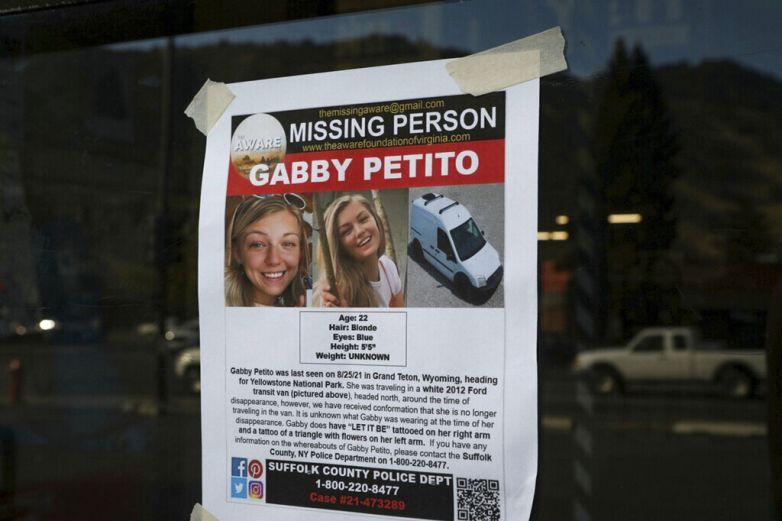 Confirman que cuerpo hallado en Wyoming es de Gabby Petito